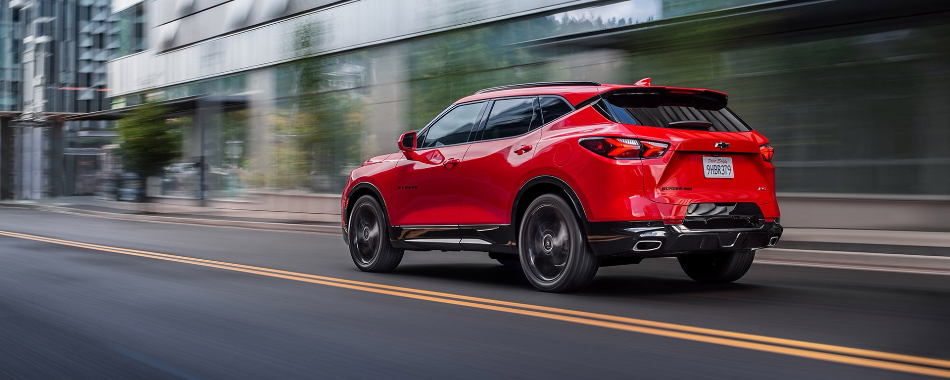 2020 Chevrolet Blazer Driving Down City Road