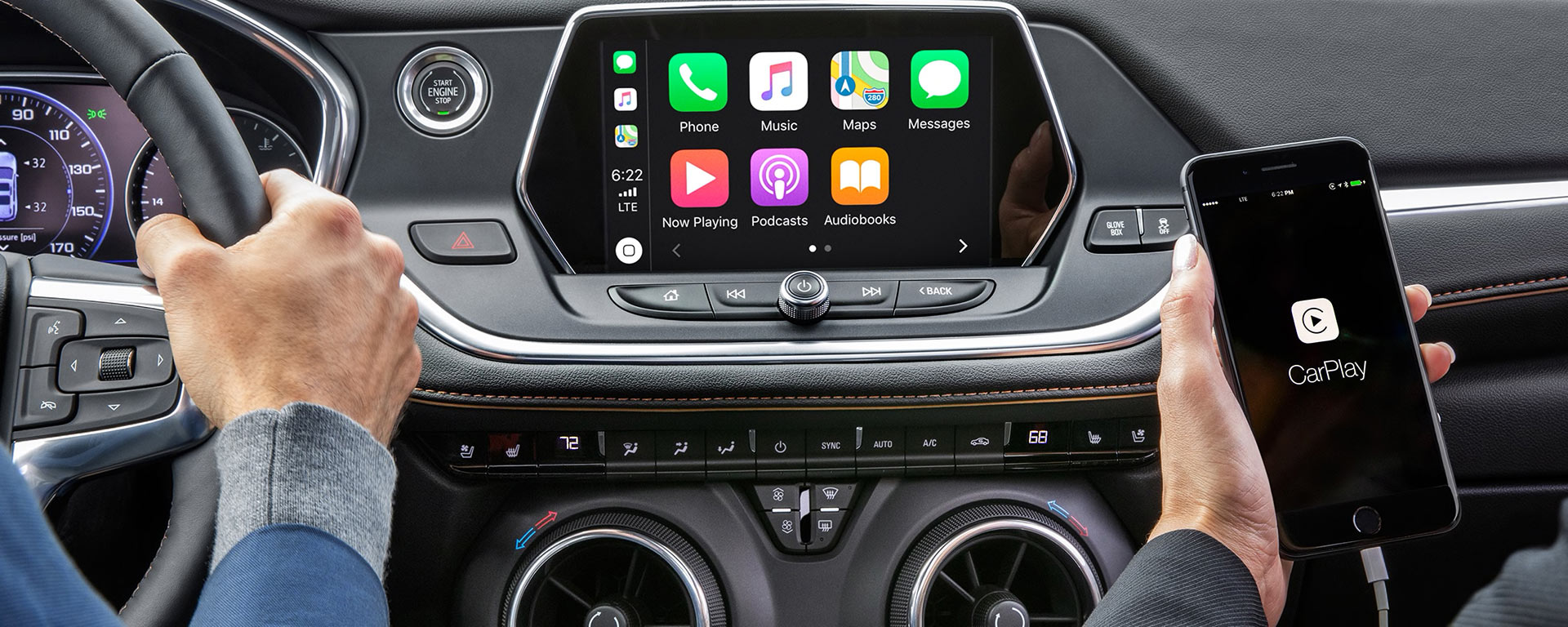 2020 Chevrolet Blazer Dashboard View With iPhone With CarPlay