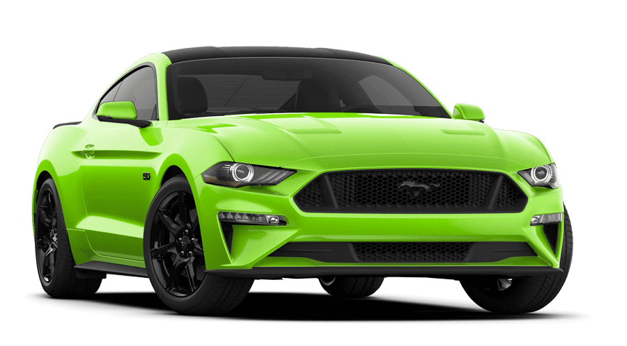 2020 Ford Mustang GT Coupe in Grbber Lime shown