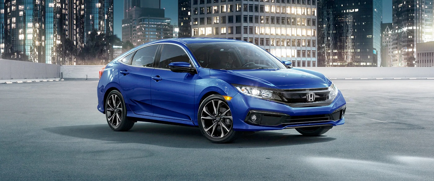 2020 Honda Civic Driving Down Road