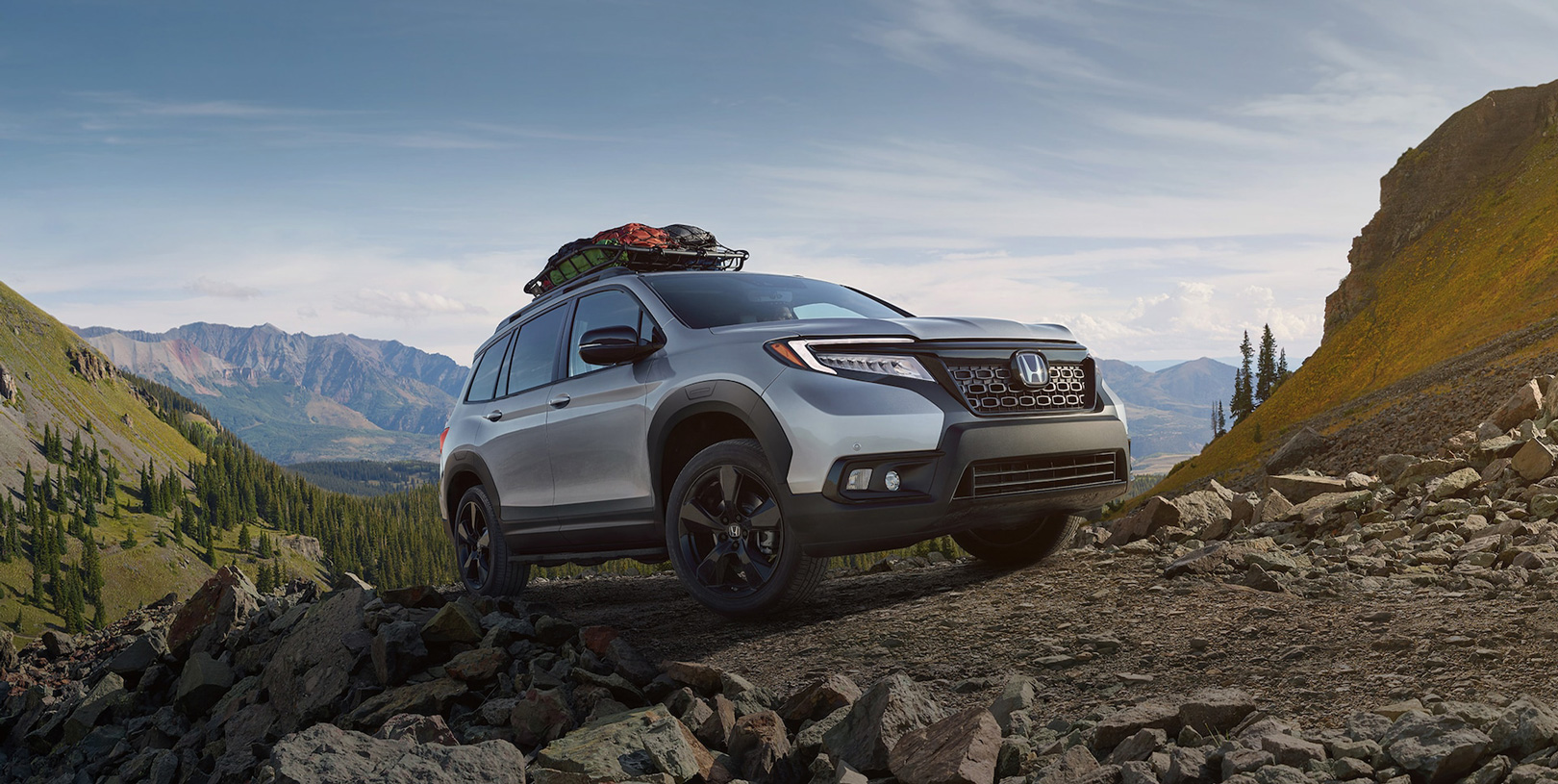 2020 Honda Passport Taking Turn Onto Road