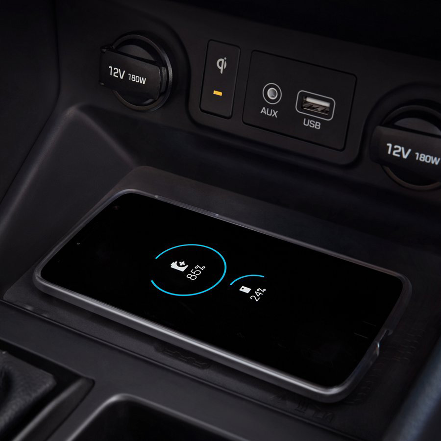 2021 Hyundai Tucson wireless charger