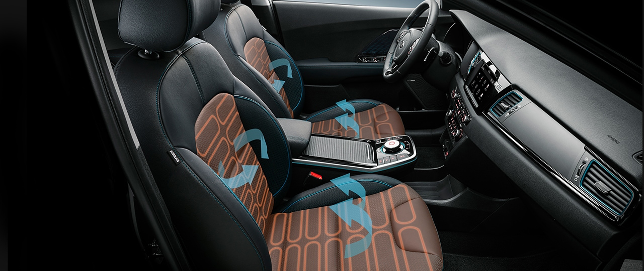 2019 Kia Niro EV - Interior View with Heated and Ventilated Seats