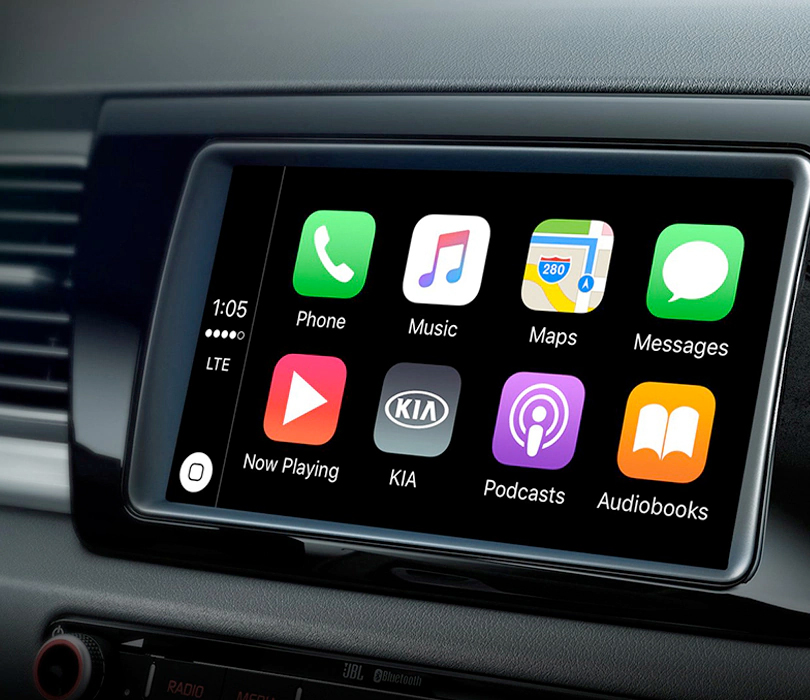 2019 Kia Niro EV with AppleCarPlay® interface