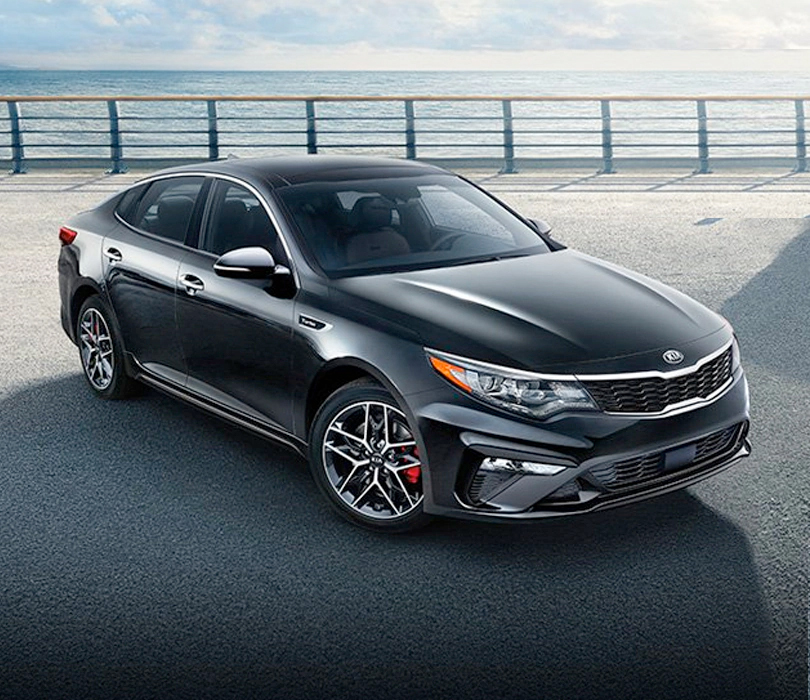 2020 Kia Optima - parked near ocean front side walk