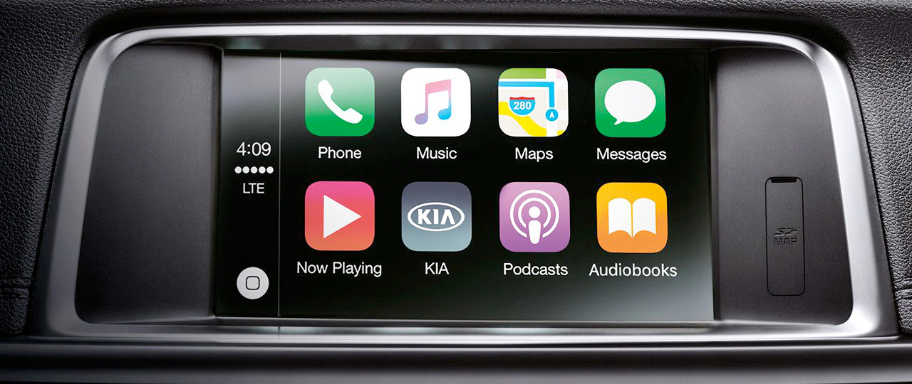 8-inch touchscreen display connected to Apple CarPlay