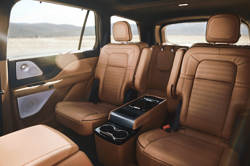 2020 Lincoln Aviator Rear Seat View From Driver Seat