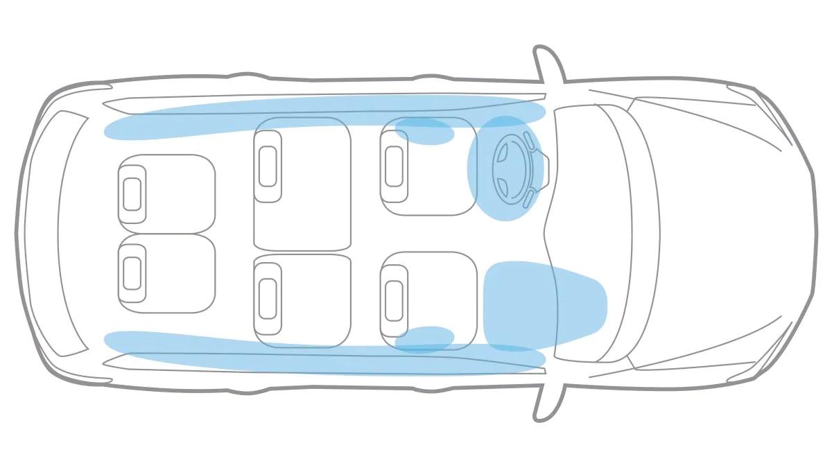 2020 Nissan Pathfinder - Advanced Air Bag System Illustration