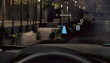 2021 Nissan Rogue heads up display