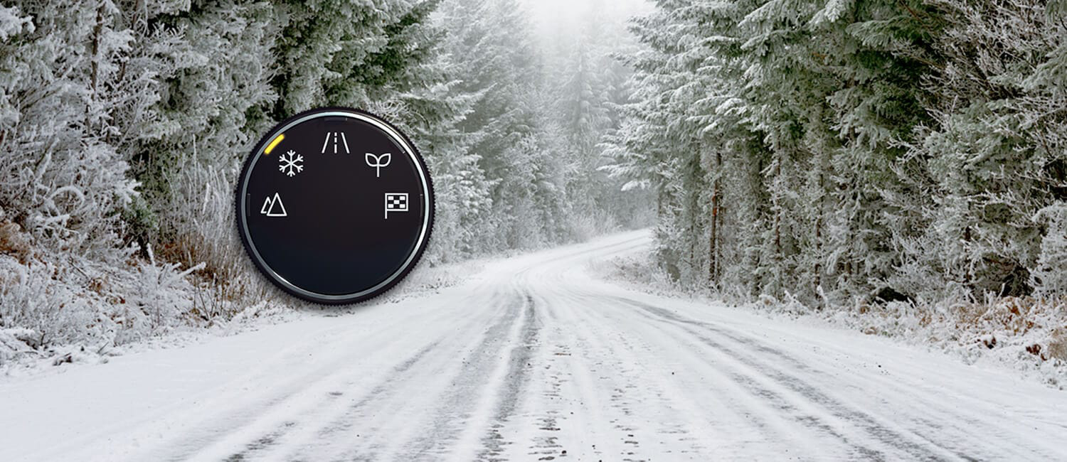 2021 Nissan Rogue snow mode gauge