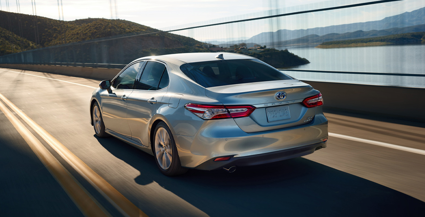 2020 Toyota Camry - Camry Hybrid Driving Over Bridge