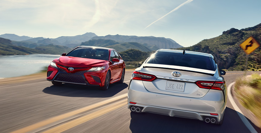 2020 Toyota Camry - Camrys Driving Down Curvy Roads