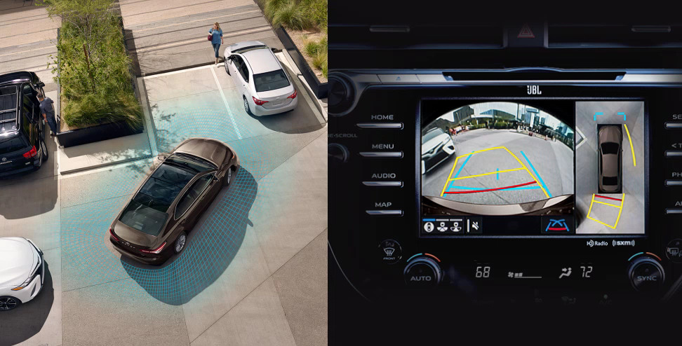 2020 Toyota Camry - Parking Sonar & Display Split Image