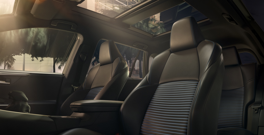 2020 Toyota Rav4 Hybrid Interior View of Glass Roof