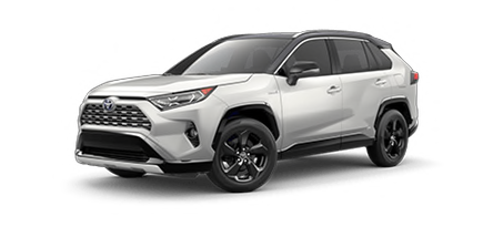 2020 Toyota Rav4 Hybrid XSE Model Cut-Out