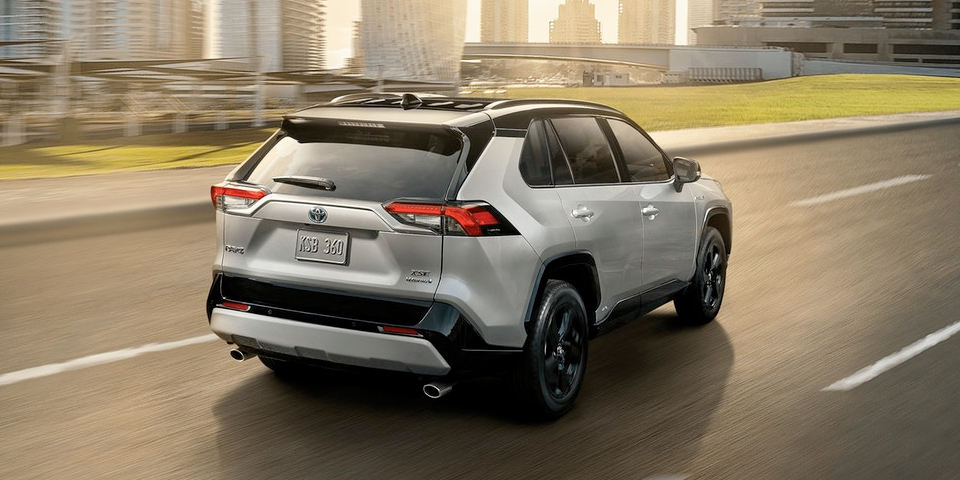 2020 Toyota Rav4 Rear View