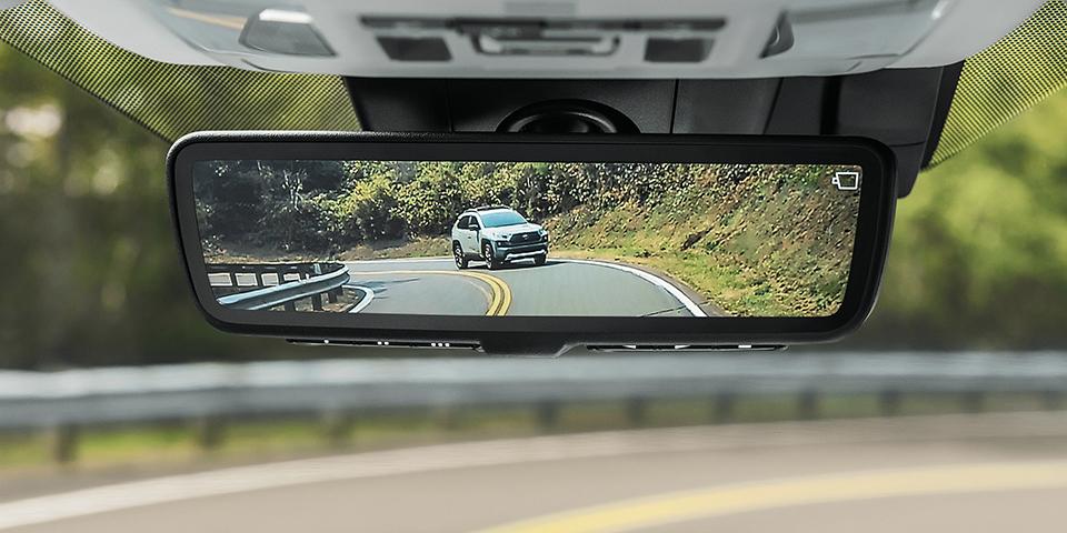 2020 Toyota Rav4 Looking At Digital Rearview Mirror