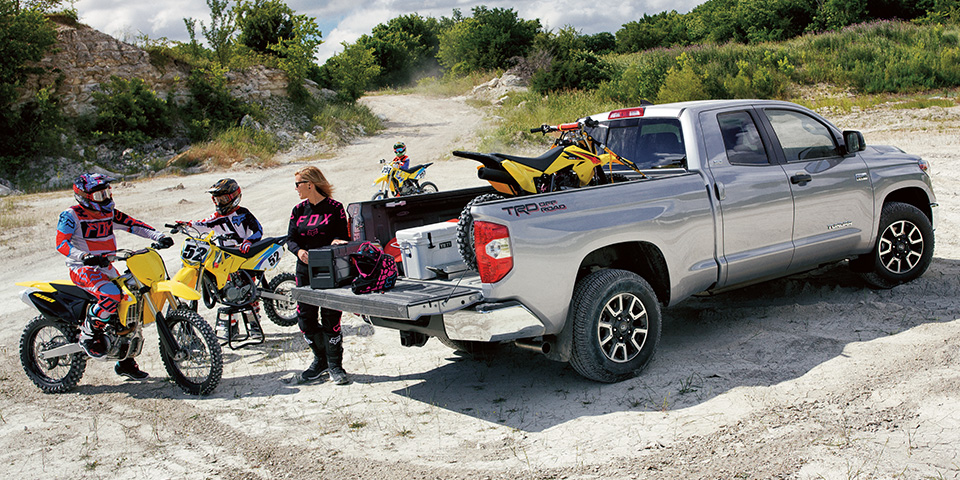 2020 Toyota Tundra - Vehicle With Group Of Dirt Bikers