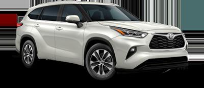 2021 Toyota Highlander XLE Model Cut-Out