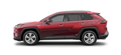 2021 Toyota Rav4 Limited Hybrid Model Cut-Out