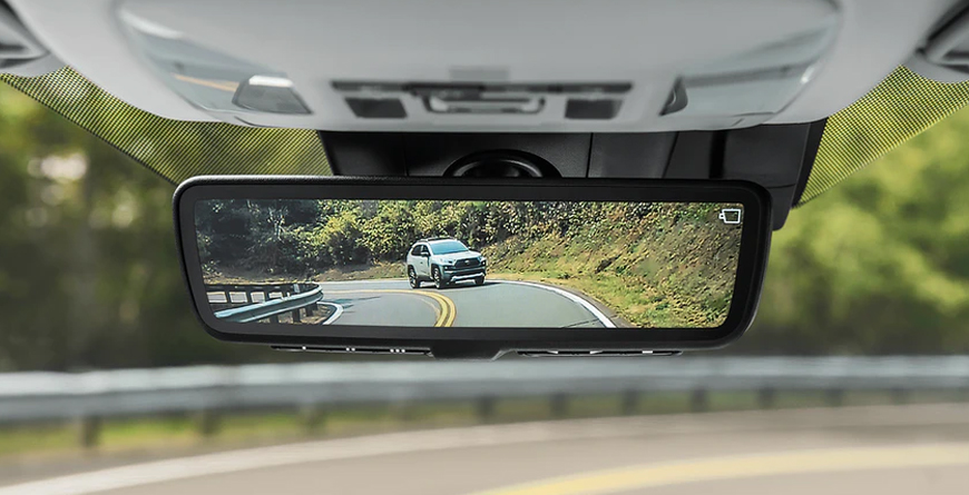 Limited AWD shown with digital rearview mirror. Adventure grade shown in digital rearview mirror's display. Prototypes shown with options.