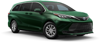 2021 Toyota Sienna LE Model Cut-Out