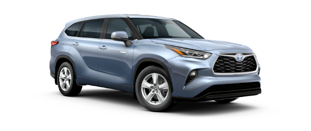 2021 Toyota Highlander Hybrid LE Car Cut