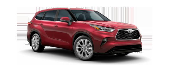 2020 Toyota Highlander Limited shown