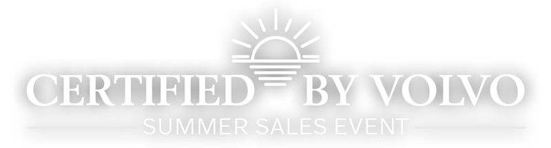 Certified By Volvo Summer Sales Event