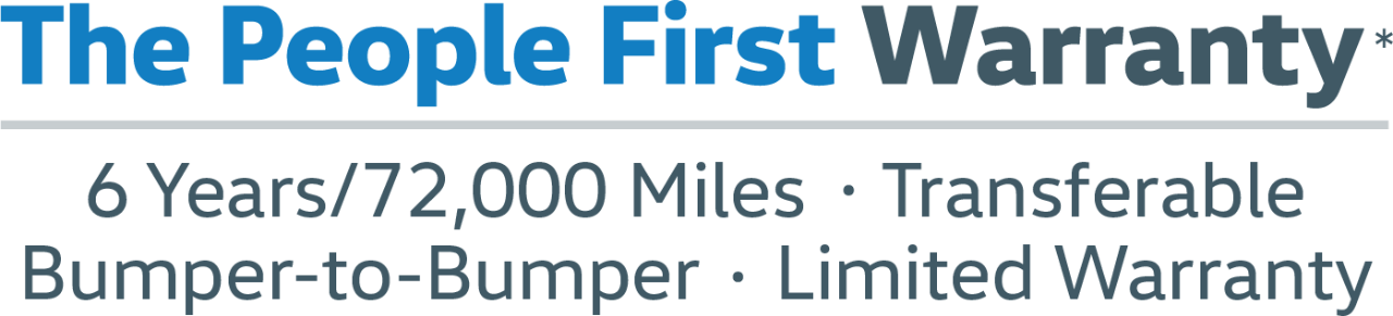 The People First Warranty Logo