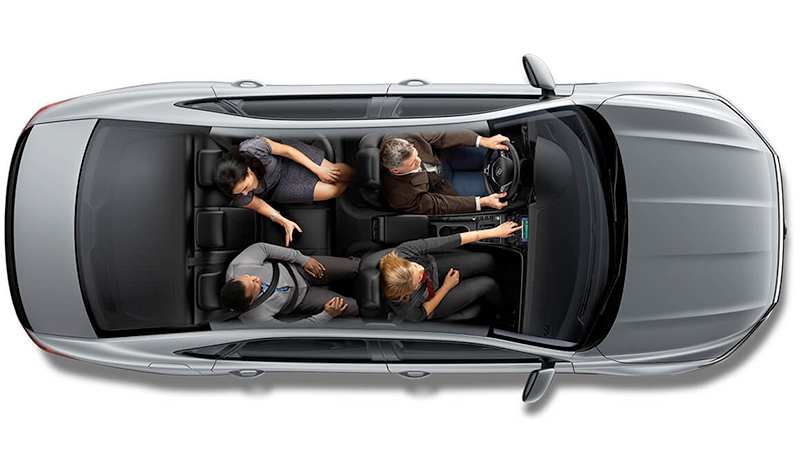 2020 VW Passat Full of seated people