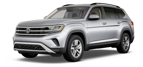 2021 Volkswagen Atlas S with 4Motion model cutout